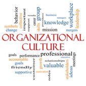 Organizational Culture Word Cloud Concept — Stock Photo