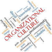 Organizational Culture Word Cloud Concept Angled — Stock Photo