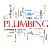 Plumbing Word Cloud Concept — Stock Photo