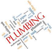 Plumbing Word Cloud Concept angled — Stock Photo
