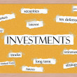 Investments Corkboard Word Concept — Foto Stock #40124803