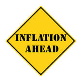 Inflation Ahead Sign — Stock Photo