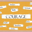 Stock Photo: Courage Corkboard Word Concept