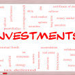 Stock Photo: Investments Word Cloud Concept on Whiteboard