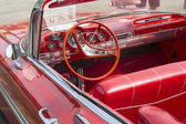 1959 Red Chevy Impala Convertible Interior — Stock Photo
