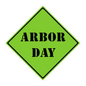Arbor Day Sign — Stock Photo