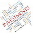 Investments Word Cloud Concept Angled — стоковое фото #40226337