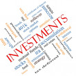 Investments Word Cloud Concept Angled — 图库照片 #40226337