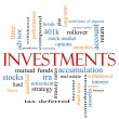 Investments Word Cloud Concept — Foto de stock #40226363