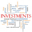 Investments Word Cloud Concept — 图库照片 #40226363