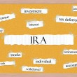 Stock Photo: IRCorkboard Word Concept