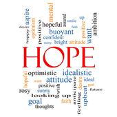 希望の単語の雲の概念 — ストック写真