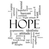 Hope Word Cloud Concept in black and white — Stock Photo