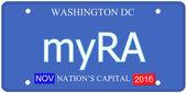 MyRA Washington DC License Plate — Stock Photo