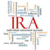 IRA Word Cloud Concept — Stock Photo
