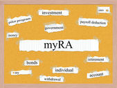 MyRA Corkboard Word Concept — Stock Photo