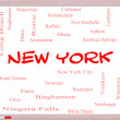 Stock Photo: New York State Word Cloud Concept on Whiteboard