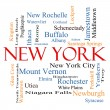 Stock Photo: New York State Word Cloud Concept