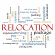 Stock Photo: Relocation Word Cloud Concept
