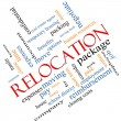 Stock Photo: Relocation Word Cloud Concept Angled