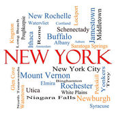 New York State Word Cloud Concept — Stock Photo