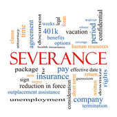 Severance Word Cloud Concept — Stock Photo