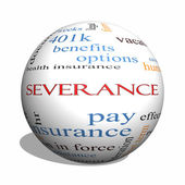 Severance 3D sphere Word Cloud Concept — Stock Photo