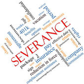 Severance Word Cloud Concept Angled — Stock Photo