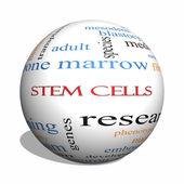Stem Cells 3D sphere Word Cloud Concept — Stock Photo
