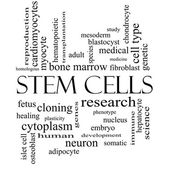 Stem Cells Word Cloud Concept in black and white — Stock Photo