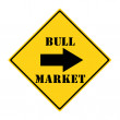 Bull Market this way Sign — Stock Photo