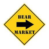 Bear Market this way Sign — Stock Photo