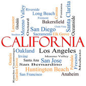 California State Word Cloud Concept — Stock Photo
