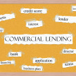 Stock Photo: Commercial Lending Corkboard Word Concept