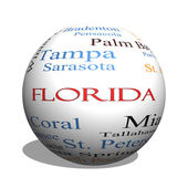Florida State 3D sphere Word Cloud Concept — Stockfoto