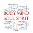 Body Mind Soul Spirit Word Cloud Concept — Стоковое фото #40578047