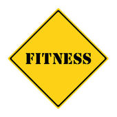 Fitness Sign — Stock Photo