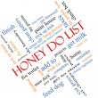 Honey Do List Word Cloud Concept Angled — Stock Photo