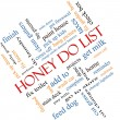 Stock Photo: Honey Do List Word Cloud Concept Angled