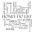 Honey Do List Word Cloud Concept in black and white — Stock Photo