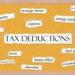 Stock Photo: Tax Deductions Corkboard Word Concept
