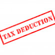 Stock Photo: Red Tax Deduction weathered stamp