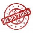 Stock Photo: Red Weathered Tax Deduction Stamp Circles and Stars