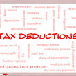 Stock Photo: Tax Deductions Word Cloud Concept on Whiteboard