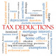 Stock Photo: Tax Deductions Word Cloud Concept