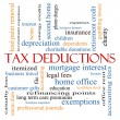 Tax Deductions Word Cloud Concept — Stock Photo #40743369
