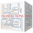 Tax Deductions 3D cube Word Cloud Concept — Stock Photo