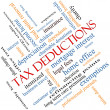 Stock Photo: Tax Deductions Word Cloud Concept angled