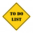 To Do List Sign — Stock Photo