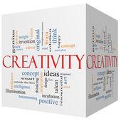 Creativity 3D cube Word Cloud Concept — Stock Photo